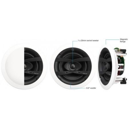 Q ACOUSTICS QI1190 (Qi65CW), głośnik zewnętrzny, głośnik instalacyjny, głośnik sufitowy, głośnik Weatherproof, głośnik na taras