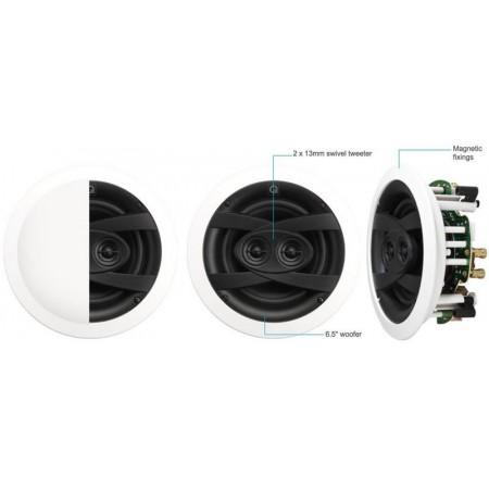Q ACOUSTICS QI1200 (Qi65CW ST), głośniki instalacyjne, głośnik sufitowy, głośnik Weatherproof, głośnik na taras, zewnętrzny