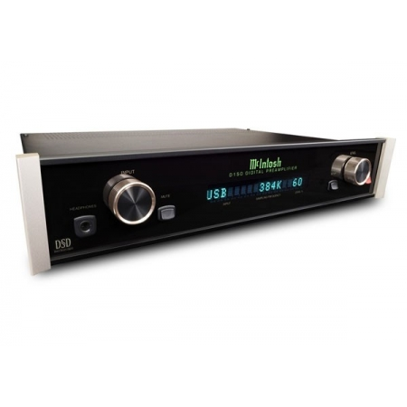 McIntosh D150 przedwzmacniacz cyfrowy z obsługą transferu asynchronicznego USB w formacie DSD/DXD